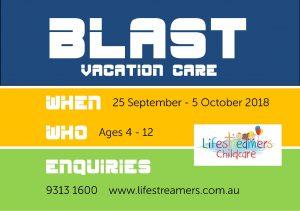 BLAST Vacation Care @ Lifestreamers Childcare